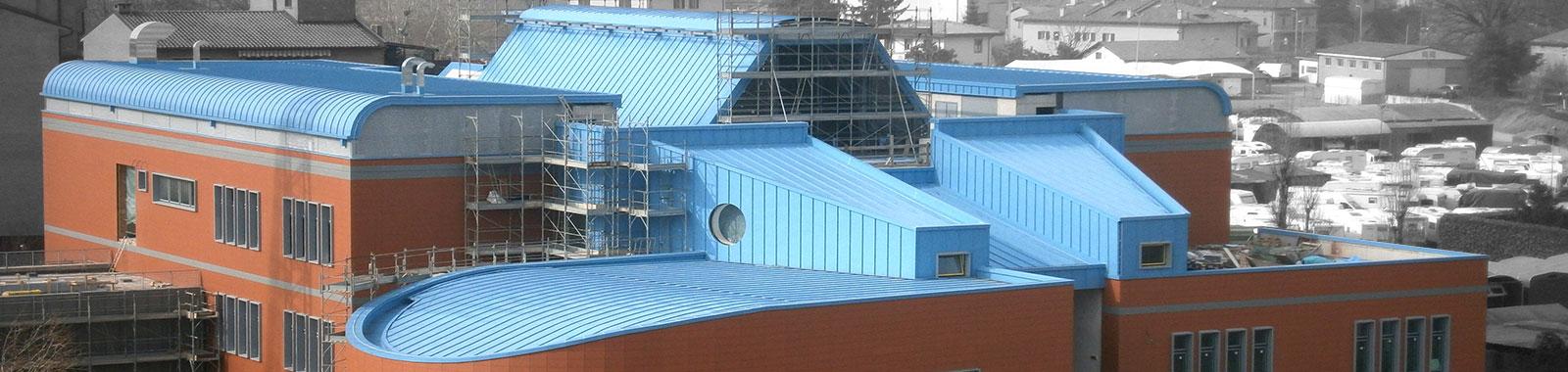 Copertura tetto piano lastre senza fori