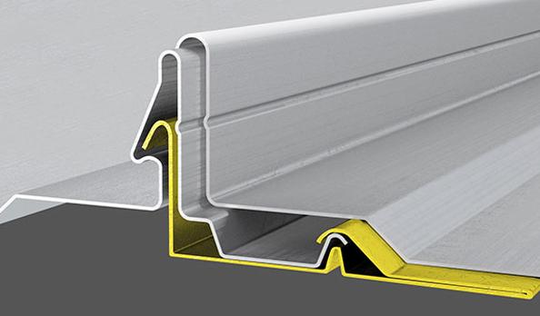 sistema di copertura metallica elysium staffa