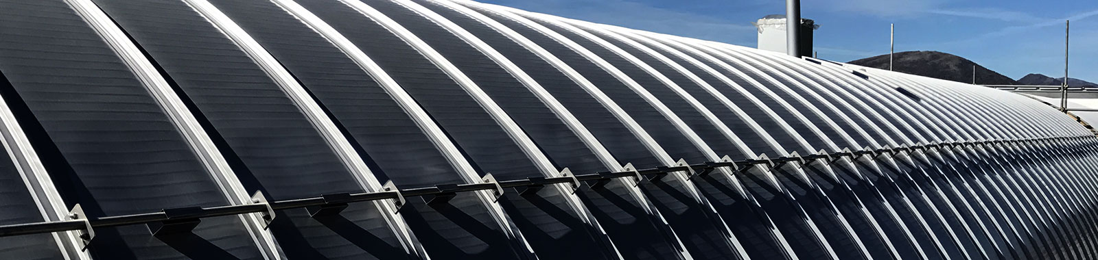 tetto curvo metallico elysium